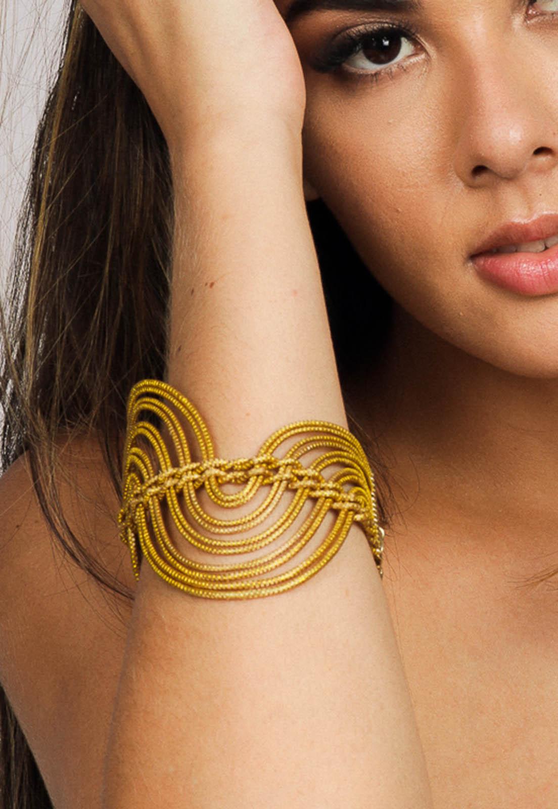 Pulseira de Capim Dourado Golden - Artesãos do Jalapão