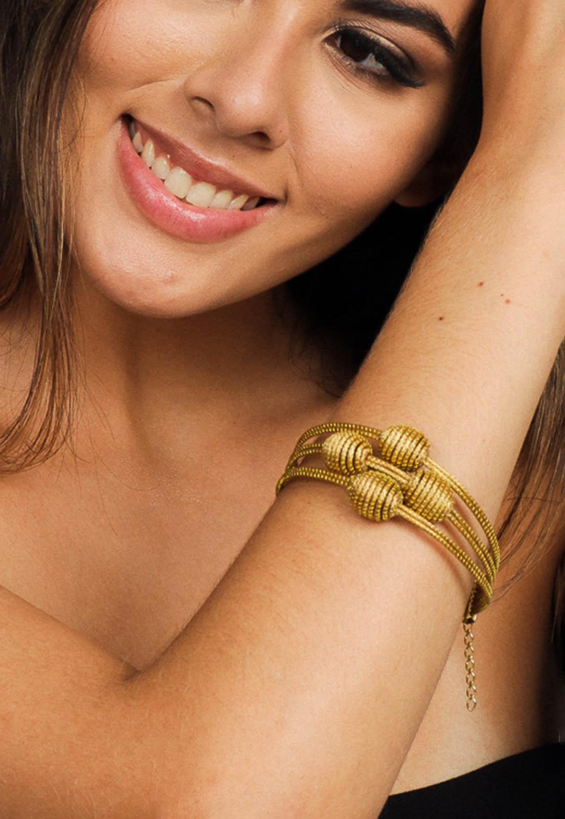 Pulseira de Capim Dourado Golden Trends - Artesãos do Jalapão