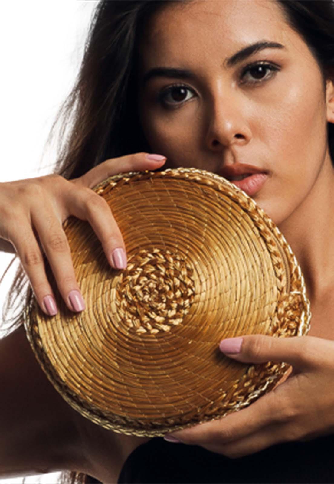 Bolsa Carteira em Capim Dourado Grão - Artesãos do Jalapão