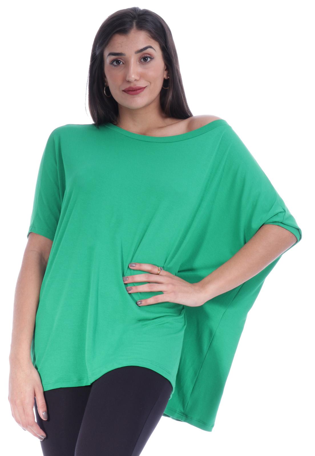 Blusa Ampla Morcego Verde Light