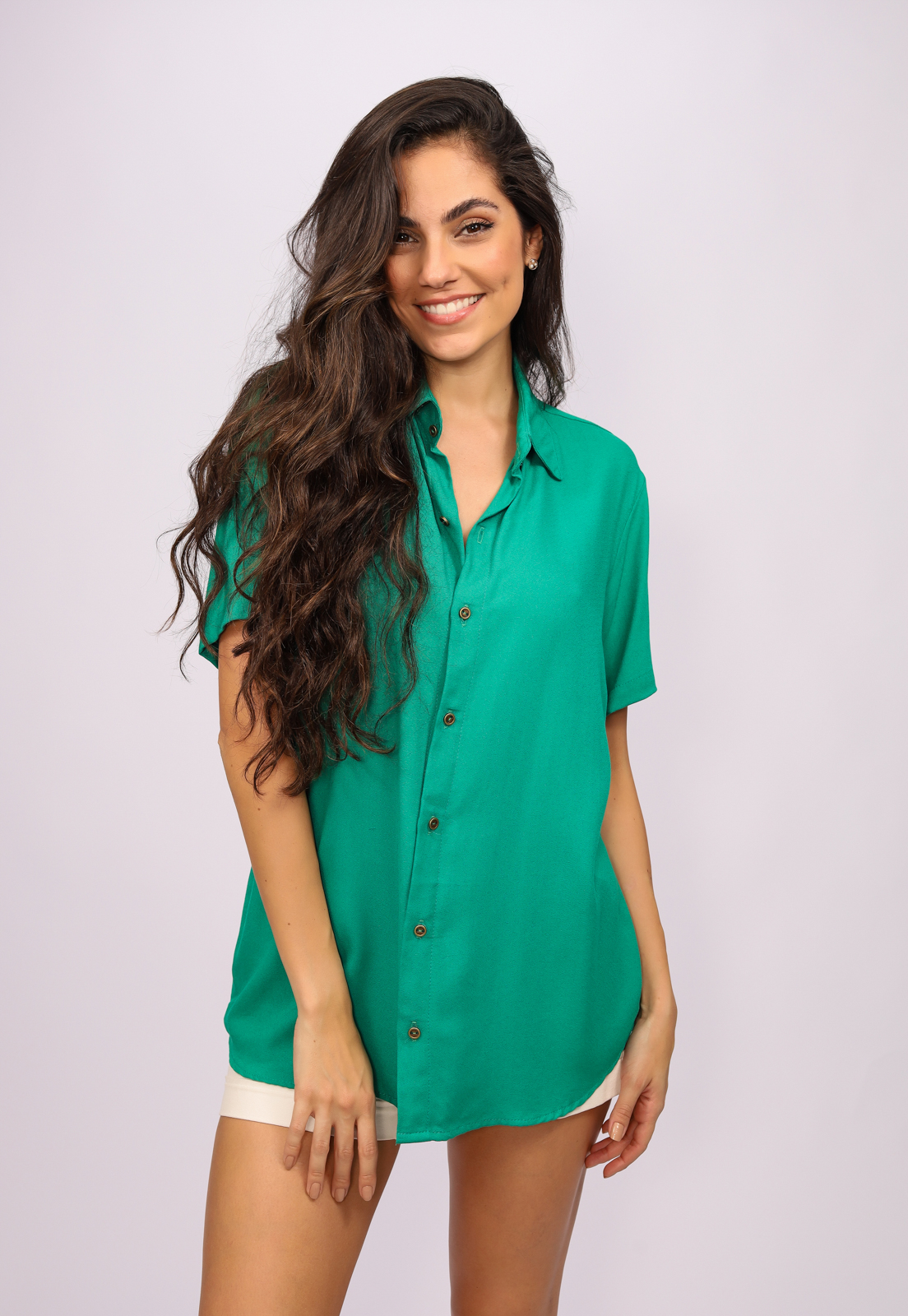 Camisa Viscose Cippóo Verde Light