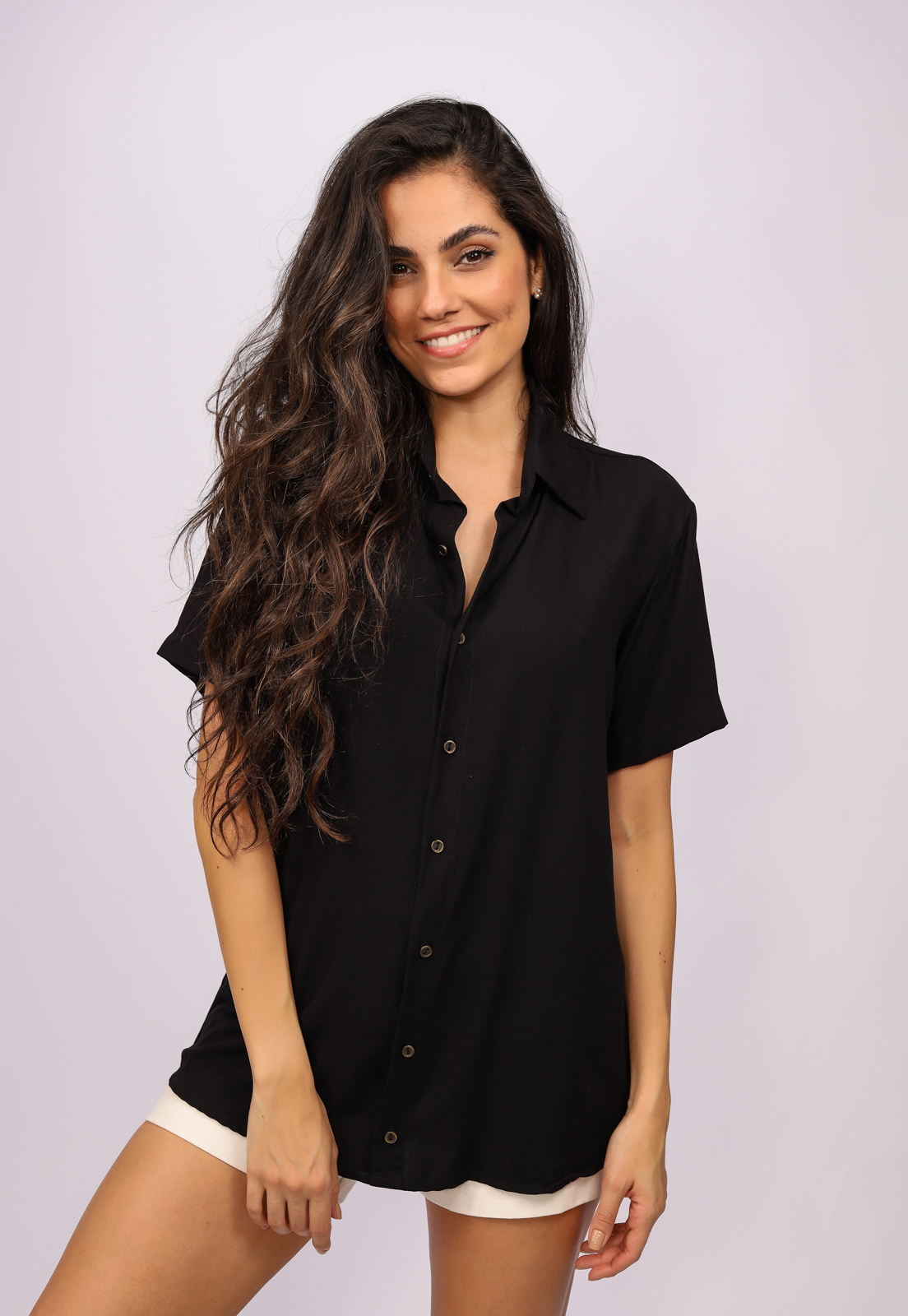 Camisa Viscose Cippóo Preta
