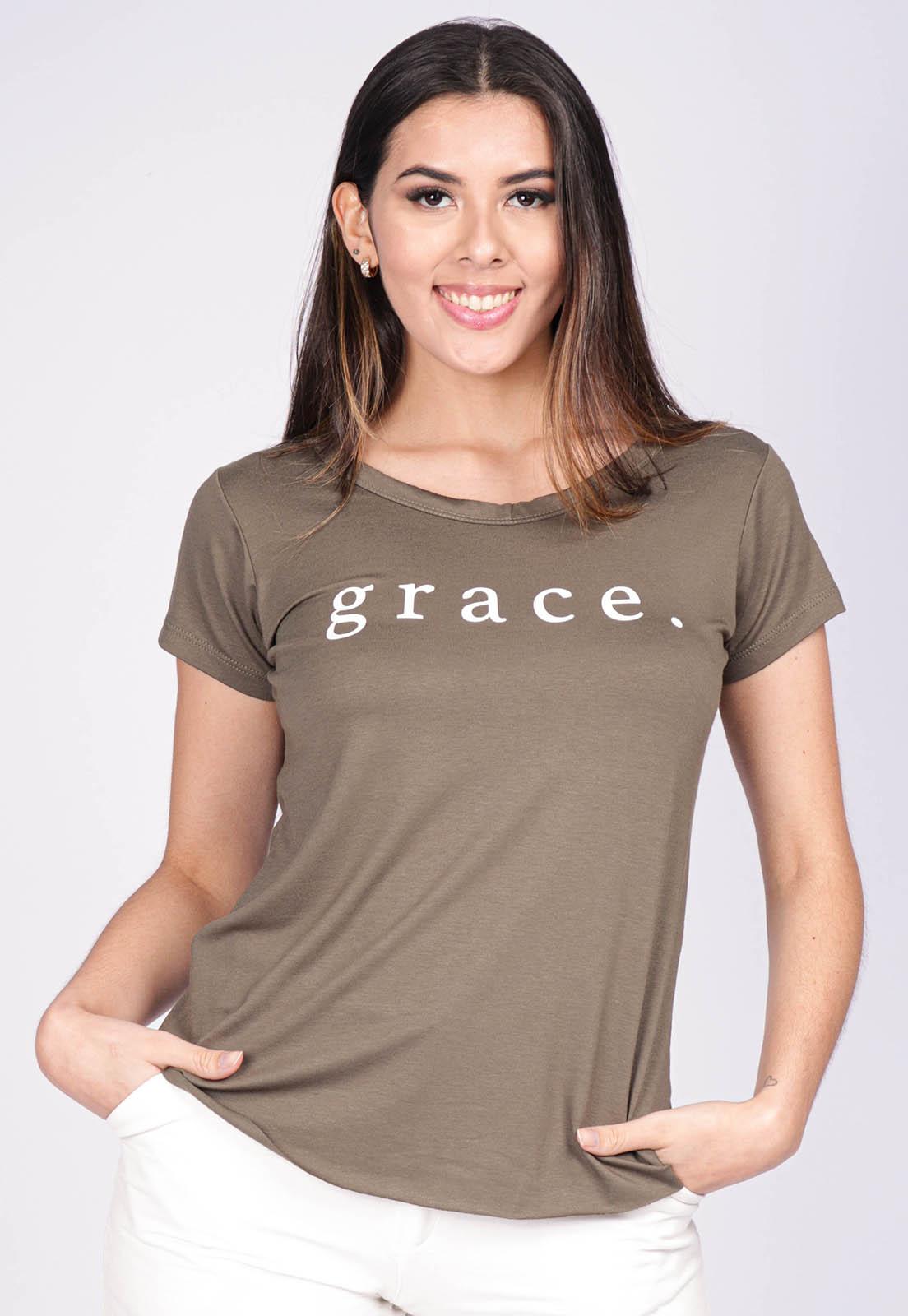 Blusa Basic Corte a Fio Malha Grace Verde Aspargo