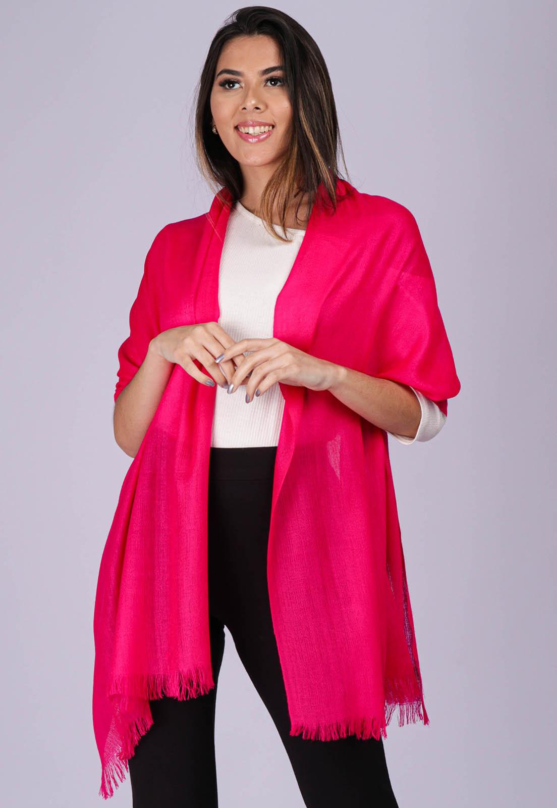 Echarpe Lenço Feminino Liso Panamá Pink