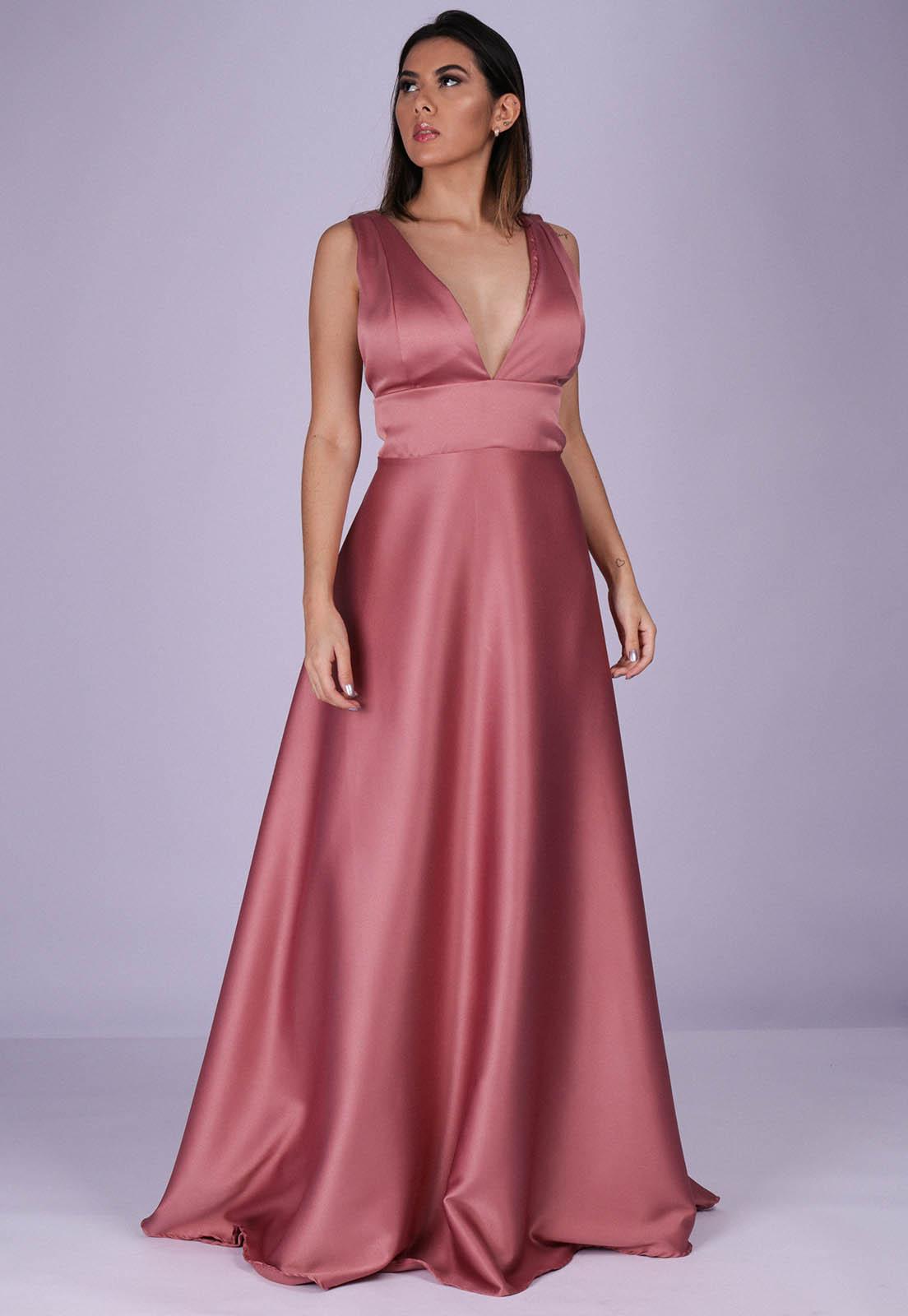 Vestido Longo de Festa New York Rose