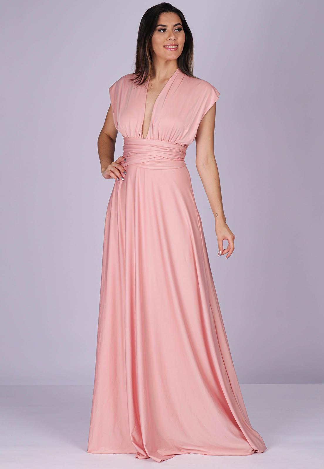 Vestido Longo de Festa Grécia Versatil Rose