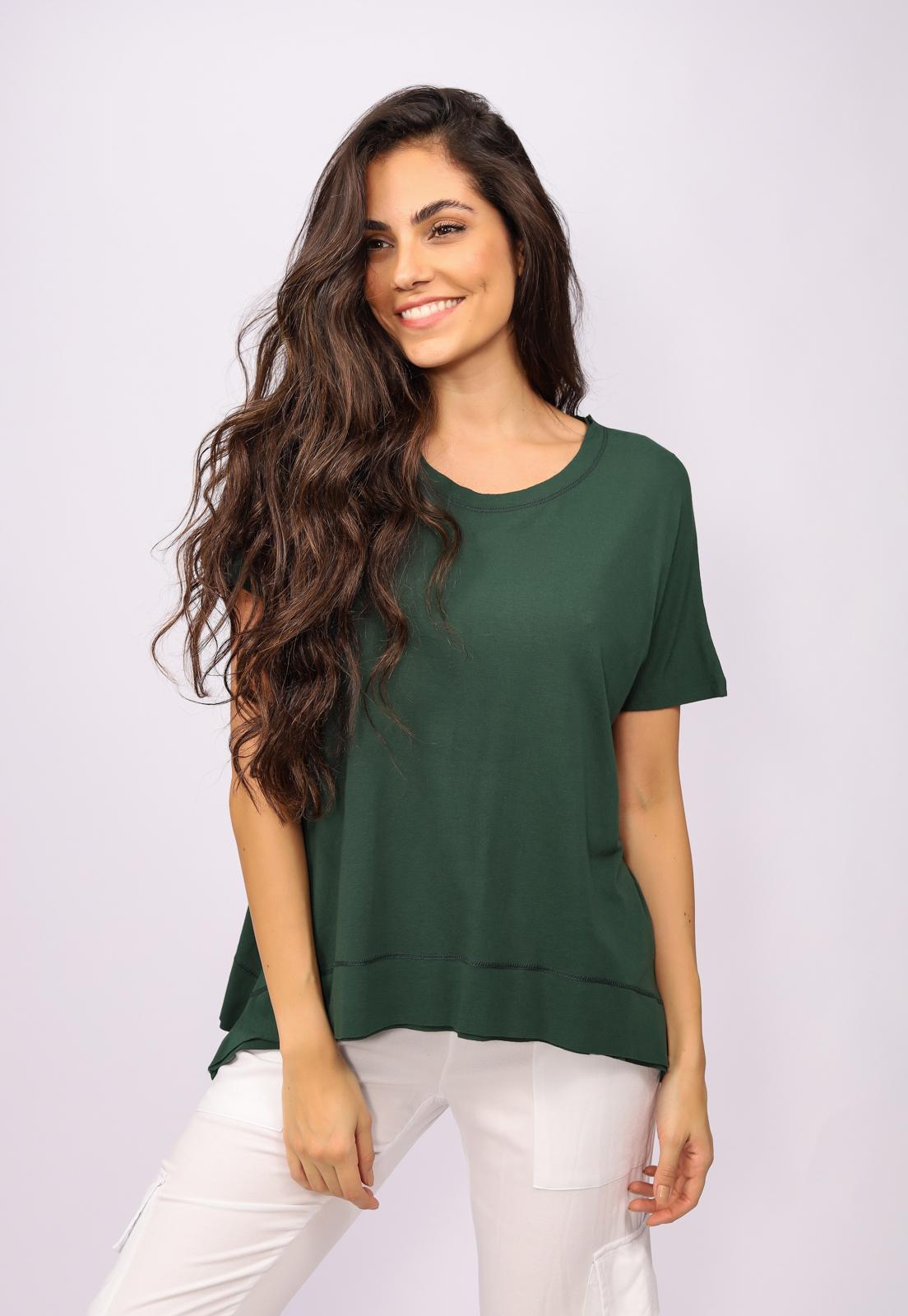 T-Shirt Malha Basic Verde Musgo